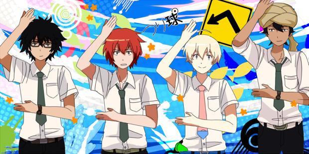 From left to right: Natsuki, Yuki, Haru, and Akira.