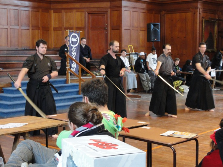 Kenjutsu demonstration at UCON.