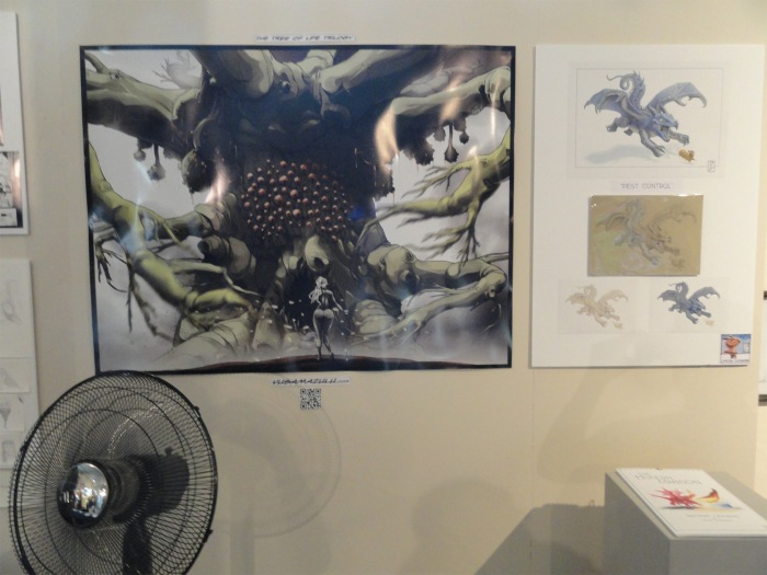 Lynton's work on the right, not sure whose work is on the left