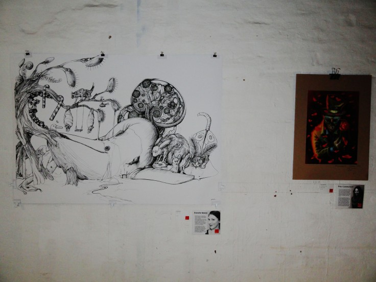On the left: a piece by Danelle Malan. On the right: a piece by Kay Carmichael.