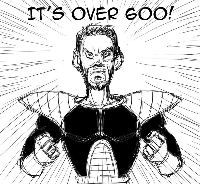 Dragon Ball Z parody sketch over 9000
