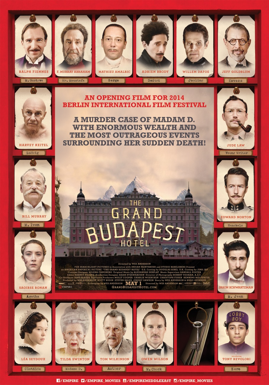 I go to bed with all my friends – A Grand Budapest Hotel ... Wes Anderson Moonrise Kingdom Poster