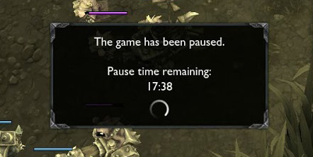 League of Legends, paused